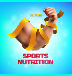 Sports nutrition vector