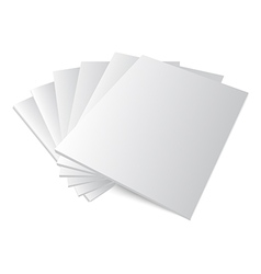 Stack of blank magazine covers vector
