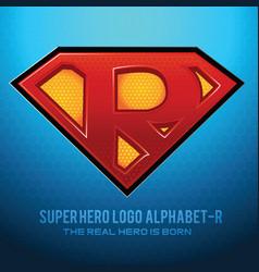 Superhero logo icon with letter r vec vector