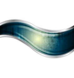 Technology background with metal wave vector
