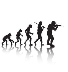 The evolution silhouette people Darwin s theory vector