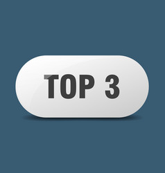 Top 3 button sticker banner rounded glass sign vector
