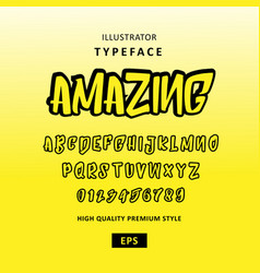 typeface font comic style vector image