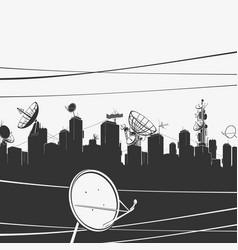 Urban city panorama and vector