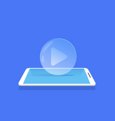 video player icon media streaming mobile vector image