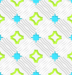 Wavy lines with blue and green seamless vector image