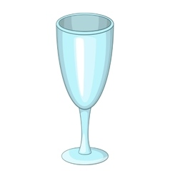 Wine glass icon cartoon style vector