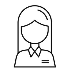 Woman avatar icon outline style vector
