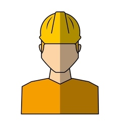 Worker avatar with safety suit vector