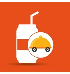 Fast delivery soda drink vector