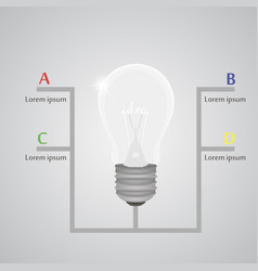 lightbulb info graphic element realistic template vector image vector image