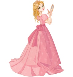 Princess with lipstick vector image vector image