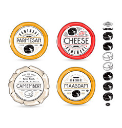 set of template labels for cheese vector image vector image
