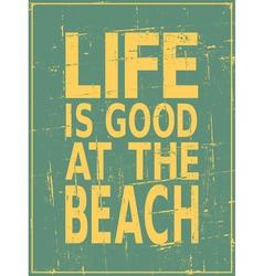 Vintage Beach Design vector image