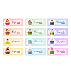 set of sweet banners vector image