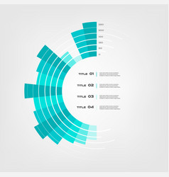 sunburst chart color infographics step by step in vector image