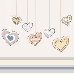 decorative heart design vector image vector image