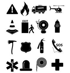 Emergency icons set vector image