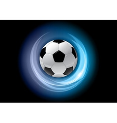 football neon light dark blue vector image vector image
