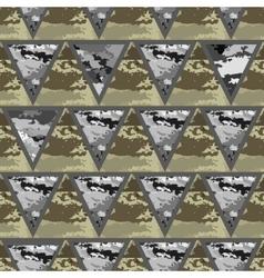 geometric abstract seamless camo vector image