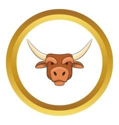 Head of bull icon vector