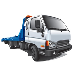 modern tow truck vector image vector image