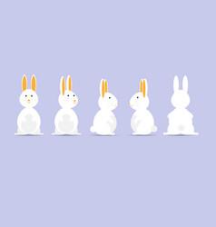 rabbit or bunny happy easter vector image