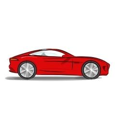Sports car with a sleek vector image