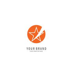 star finance logo vector image