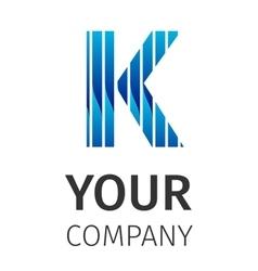 Abstract blue logo K vector image vector image