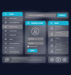 blue mobile user interface design vector image