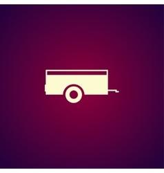 Car trailer Icon concept for vector image vector image