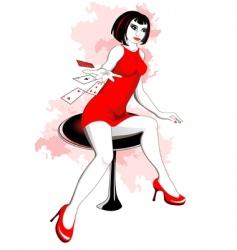 girl in casino vector image vector image
