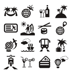 travel ions vector image vector image