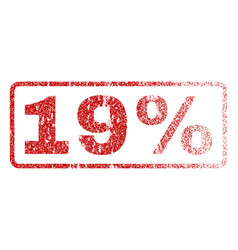 19 percent rubber stamp vector image vector image