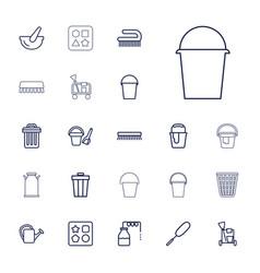 22 bucket icons vector