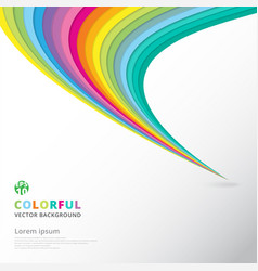 abstract colorful lines pattern twist curve vector image