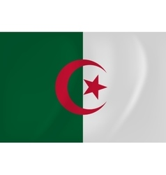 Algeria waving flag vector image