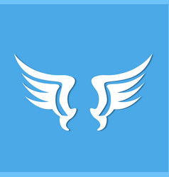 angel wings blue background vector image