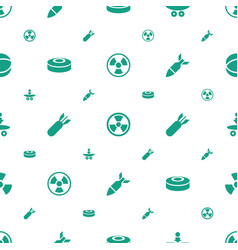 Atomic icons pattern seamless white background vector