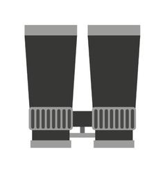 Binoculars view silhouette icon vector