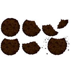 Bitten double choicolate cookies vector