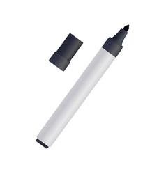 Black felt-tip pen on white background vector