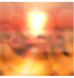 Blurred summer sea sunset background vector