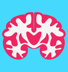 Brain in flat monochrome color on white background vector