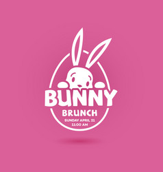 bunny brunch postcard vector image