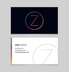 business-card-letter-z vector image