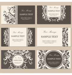 cards set brown vector image