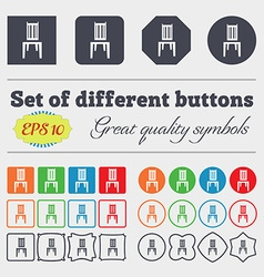 chair icon sign Big set of colorful diverse vector image