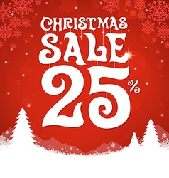 Christmas Sale 25 Percent vector image